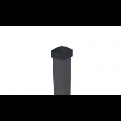 Stulpas nudažytas milteliniu būdu 80x40x2 H2400 RAL 8019