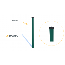 Stulpas 60x40x1,3 cinkuotas + nudažytas milteliniu būdu RAL 6005 H1700