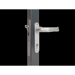 LOCINOX SIXTYLOCK Įleidžiama vartelių spyna 60mm profiliui su reguliuojama atrama SFKI