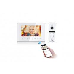 Vaizdo telefonspynės komplektas VID-714Wi-Fi+VID-D3Code (W)