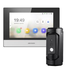Vaizdo telefonspynės komplektas, antivandalinė kamera Hikvision DS-KB8113 ir monitorius Hikvision - KH6320-WTE1
