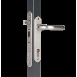 LOCINOX FORTYLOCK Įleidžiama vartelių spyna 40mm profiliui su reguliuojama atrama SFKI