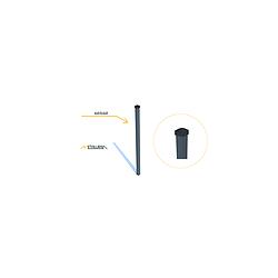 Stulpas nudažytas milteliniu būdu ir cinkuotas 60x60x1,5 H3000 RAL 7016