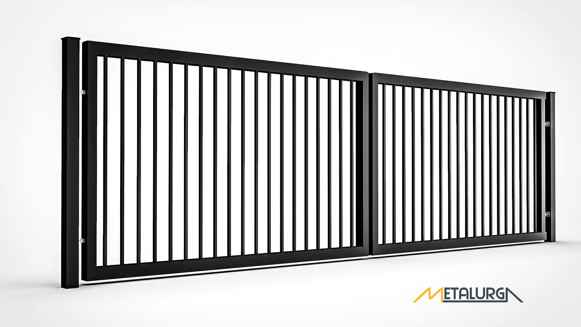 Metaliniai varstomi kiemo vartai